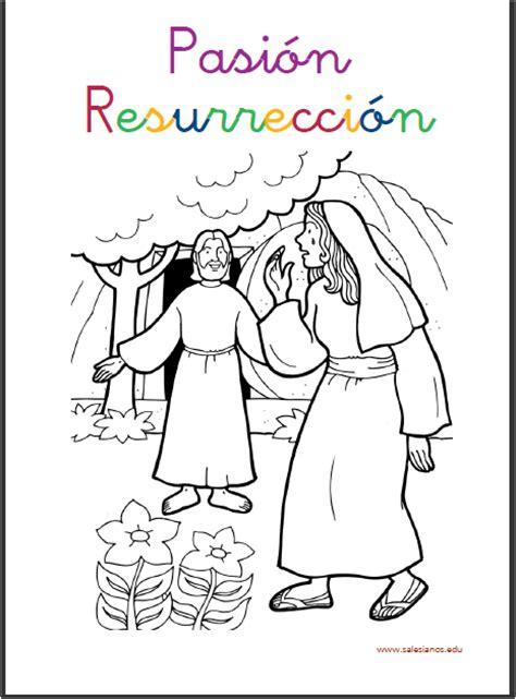 Hoja Para Colorear Cuando Jesus Resucito