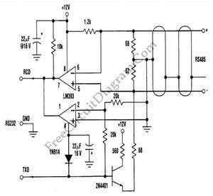 three wire rs232 to rs485 converter rs232 circuit With wiring diagram besides rs232 to rs485 cable pinout on wiring diagram