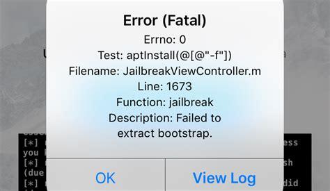 how to fix error fatal issue during unc0ver ios 12 jailbreak