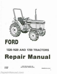 Ford 1320 1520 And 1720 Tractor Repair Manual