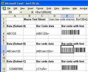 Print bar code 128 from word excel or access for Barcode font for excel