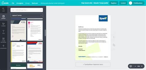 buat desain kop surat perusahaan unik  menarik canva