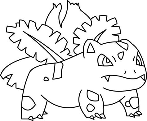 Pokemon Ivysaur Coloring Pages Coloring Pages