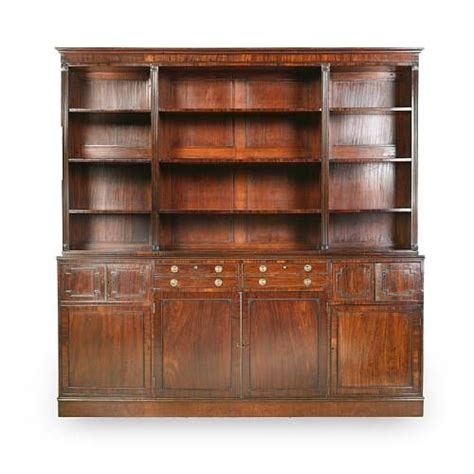 Moulded Cornice A Regency Mahogany Open Bookcase The Moulded Cornice