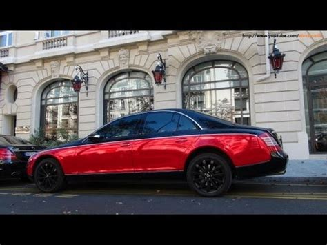 Maybach 57s Black / Red Chrome