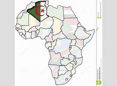 Algeria On Africa Map Royalty Free Stock Photo Image