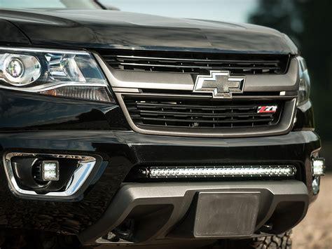 chevy colorado lights 2015 2017 chevy colorado bumper mount black rigid industries