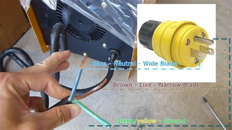 power cord plug wiring xueming