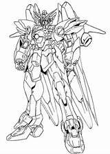 Gundams Digimon sketch template