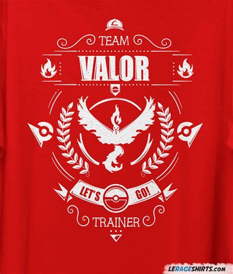 team valor tee pokemon   lerage shirts