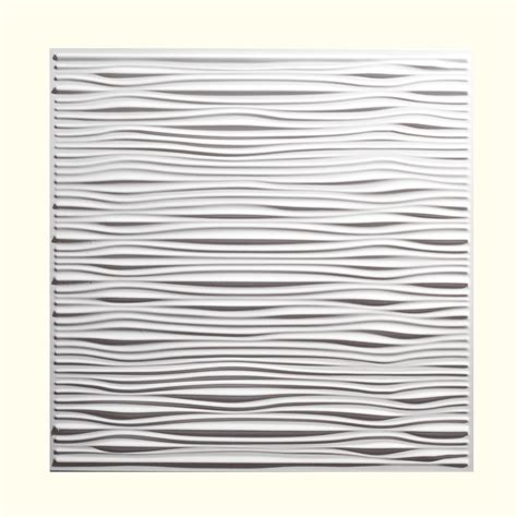 shop genesis white patterned 15 16 in drop ceiling tiles