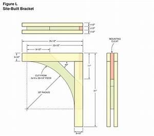 Corbel or Bracket Layout / Pattern - Woodwork City Free