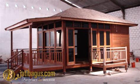 rumah kayu minimalis modern panggung rk  jatibagus