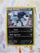 Items similar to Shiny Zoroark Painted Holo Card on Etsy  Shiny Zoroark Card