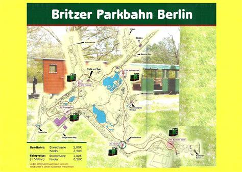 Britzer Garten Karte Pdf by Britzer Parkbahn In Berlin