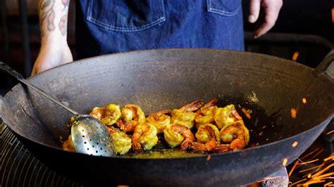 southern thai style fried giant prawns recipe bon appetit