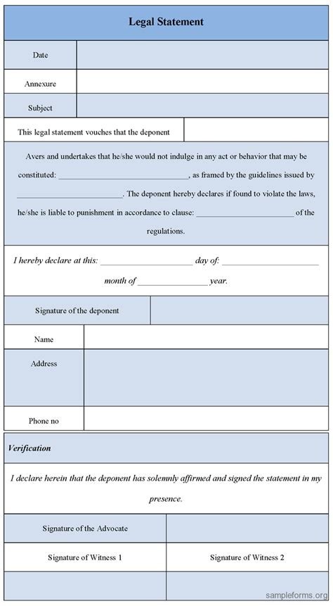 legal forms for lawyers search results for sle of personal information form