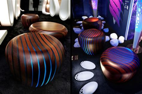 Led Backlit Furniture in Wood & Resin   Bright Woods