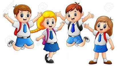 Uniforme Uniform Clipart Wearing Going Kid Happy