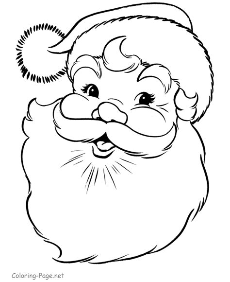 christmas coloring pages santa face