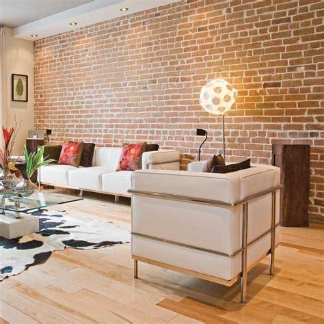 chambre a montpellier décoration salon mur de brique