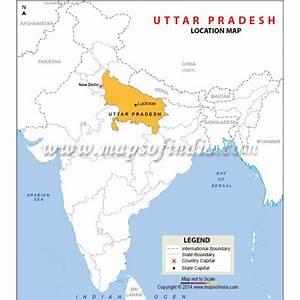 Buy Uttar Pradesh Location Map Online