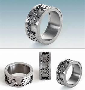 finally a wedding ring i would wear kinekt ring with With wedding ring with gears