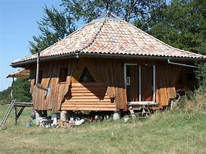 maison ronde atypique en bois tarn abritel With maison bois ronde tournante