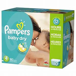 Pampers Baby Dry Size 4 Diapers, 180 ct. - BJ's Wholesale Club