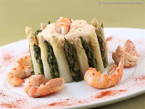 chartreuse en cuisine chartreuse aux 2 asperges et espuma de langoustines