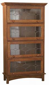 Mission bookcase with doors, mission barrister bookcase