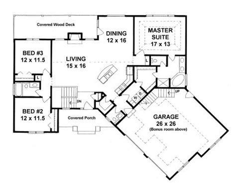plan   bedroom ranch  bonus room  oversized  car garage