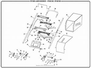 Homelite Ry40108 40 Volt Lawn Mower Mfg  No  107993003 Parts Diagram For Figure A