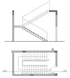 treppen zeichnen projeto de escada planta baixa e corte desenho técnico http www