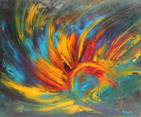 tableau quot eveil quot 60x50 cm peinture abstraite contemporaine 224 l huile sur toile de micha 235 lle