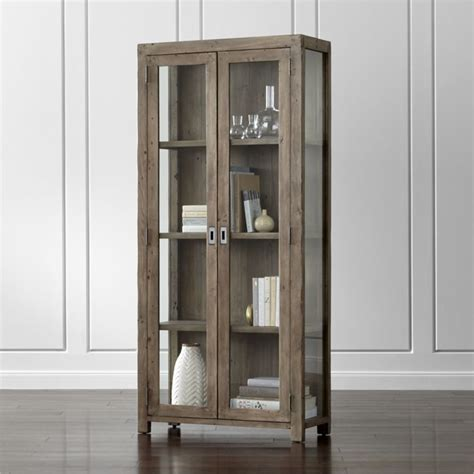 gray bookcase with doors morris ash grey bookcase crate and barrel