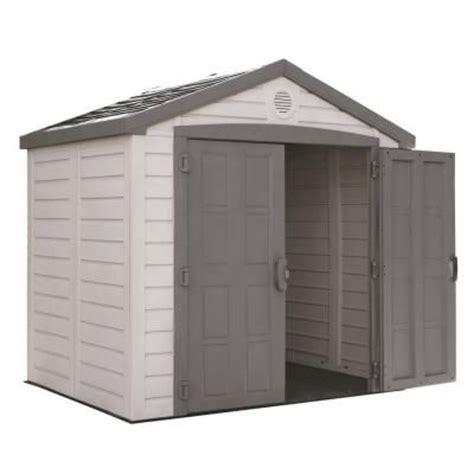 home depot yard sheds us leisure keter sunterrace 8 ft x 6 ft resin outdoor 4276