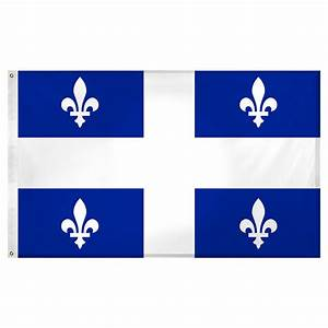 Quebec flag 3 x 5 feet Super Knit polyester eBay