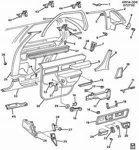 1993 Buick Regal Trim  Center Pillar  Rear Door  U0026 Quarter