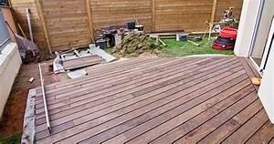 faire une terrasse sur lambourdes With terrasse bois espacement lambourde