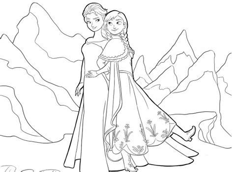 dibujos de las princesas anna  elsa frozen  imprimir