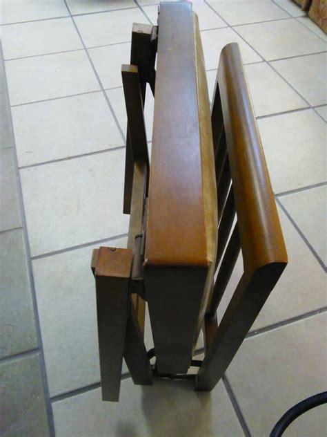 vintage leg  matic folding wood chairs airstream