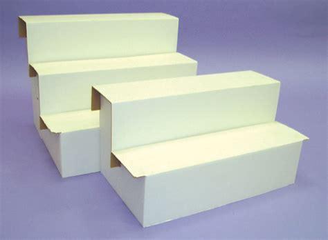 shoe rack stairs cardboard risers 2 3 steps 23str gershel brothers
