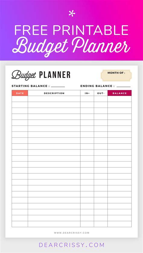 budget planner printable printable finance planner