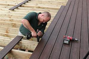 How to install composite decking arbordeck for How to install deck flooring