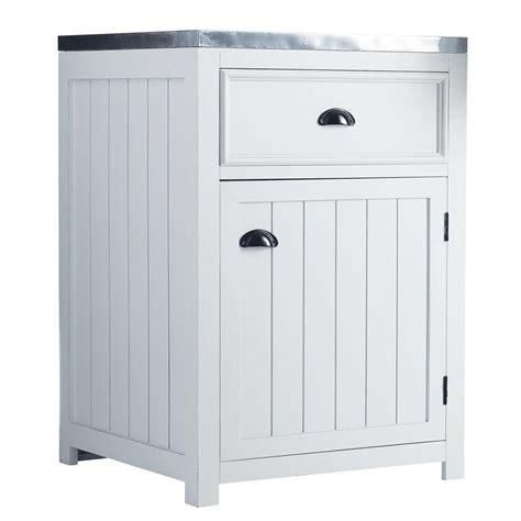 meuble cuisine 60 meuble bas de cuisine ouverture gauche en pin blanc l 60