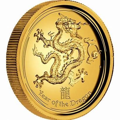 Gold Dragon Coin Australian Lunar 1oz Relief