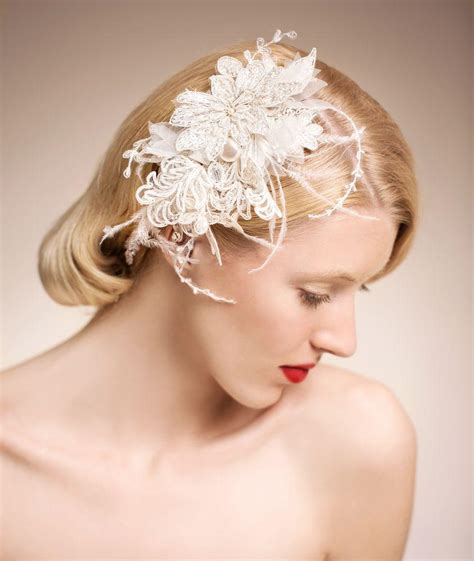 Bridal Accessories by Stunning Bridal Accessories Vintage Pearls Feather Hair
