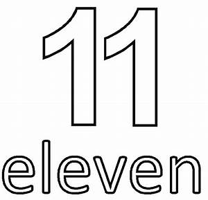 Coloring Pages Numbers 11 Thu 16 Materialforenglishclasses