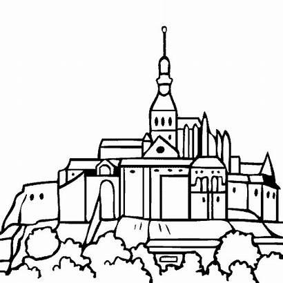 Mont Michel Saint Coloring St France Pages